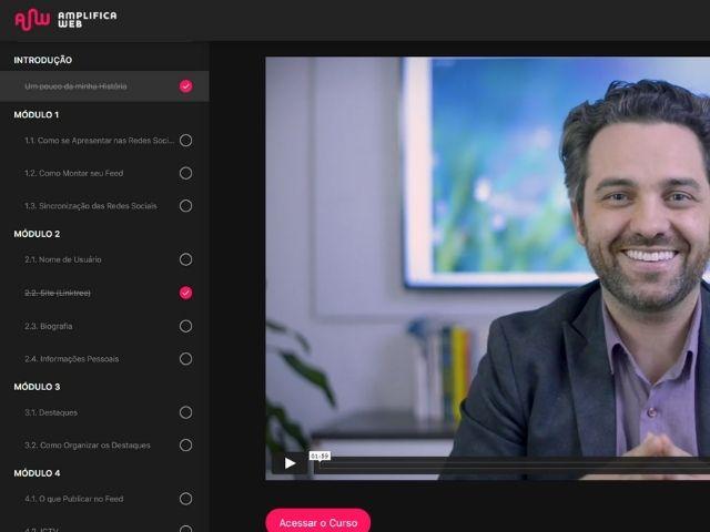 amplifica web empresa de lançamento digital curso gravação
